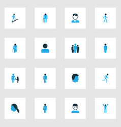 Person colorful icons set collection of client vector