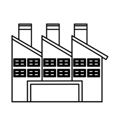 Plant factory isolated icon vector