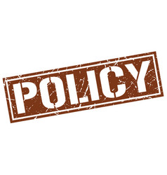 Policy square grunge stamp vector