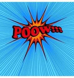 Pow comic text vector