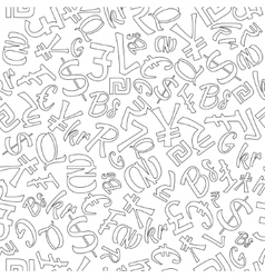 Seamless Pattern of Random Currencies vector image vector image