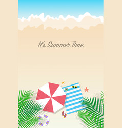 Summer time background season vacation weekend vector