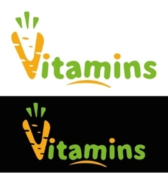 The logo or icon vitamins carrots vector