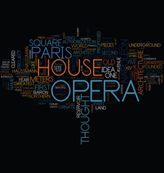 The paris opera house text background word cloud vector