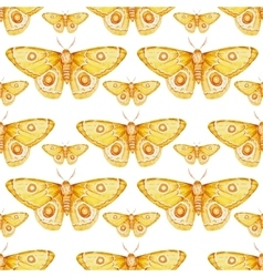 Watercolor butterflies pattern vector image vector image