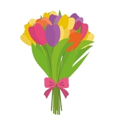 Beauty flower bouquet vector