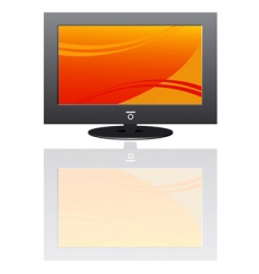 Plasma lcd tv vector