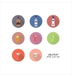 Set of alcoholic and nonalcoholic drinks vector