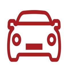 Car simple outline icon2 resize vector image