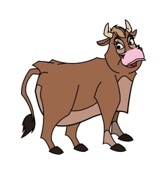 Isolated cow cartoon design vector