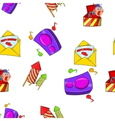 Holiday birthday pattern cartoon style vector
