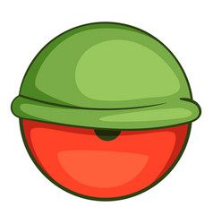 Bloodshot eyeball icon cartoon style vector