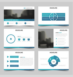 Blue abstract multipurpose presentation vector