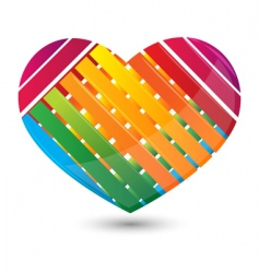 Stripped heart vector