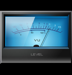 analog vu meter blue vector image