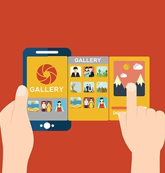 Mobile app for camera and gallery vector