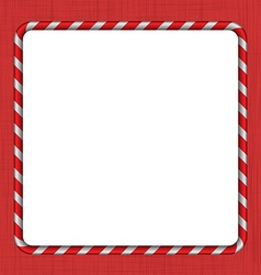 Christmas candy cane frame vector