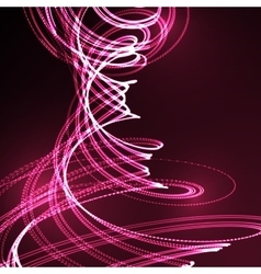 3d illuminated distorted helix shapes vector