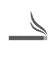 Cigarette sign on white vector