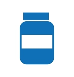 Bottle drugs isolated icon design vector