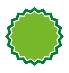 Green seal stamp sticker vector