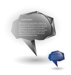 Abstract speech balloons or talk bubbles vector image vector image