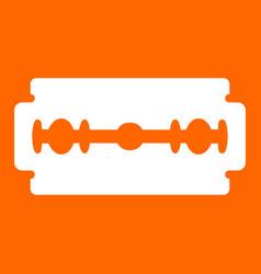 blade razor white icon vector image