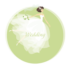 Bride wedding dress concept spring pastel color vector