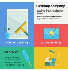 Cleaning company banners set vector