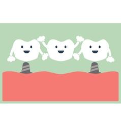dental bridge vector image vector image