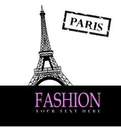Fashion with Paris in the background vector image vector image