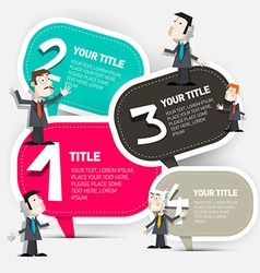 Four steps infographic layout with paper labels vector