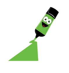Funny Green Marker vector image vector image