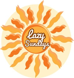 Lazy sundays vector