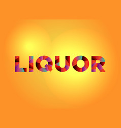 Liquor theme word art vector