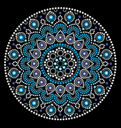 mandala art australian dot painting white vector image