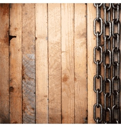 Metal and wood background vector