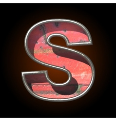 Old metal letter s vector