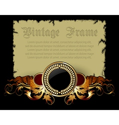paper with ornate frame vector image vector image