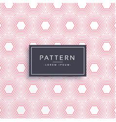 Pink hexgonal shape pattern background vector