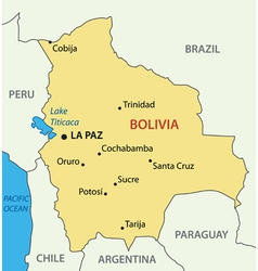 Plurinational state of bolivia - map vector