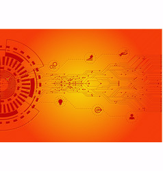Red and yellow color modern digital technology vector