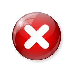 Red check mark icon button vector