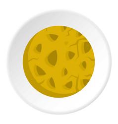 Rocky planet icon circle vector