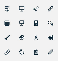 set of simple web icons vector image