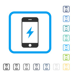 smartphone electricity framed icon vector image