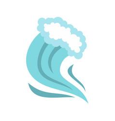 tsunami icon cartoon style vector image vector image