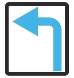 Turn left framed icon vector