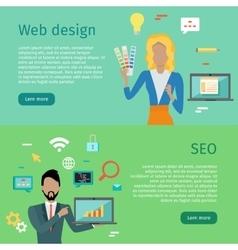 Web design seo conceptual banners internet vector