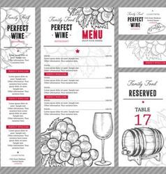 Wine Menu Set vector image vector image